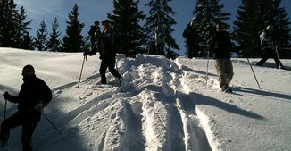 snowshoes Courchevel meribel ESA Black Ski Ski school