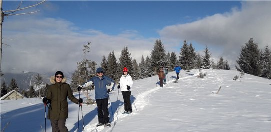 snow shoes courchevel guides black ski ESA ski school